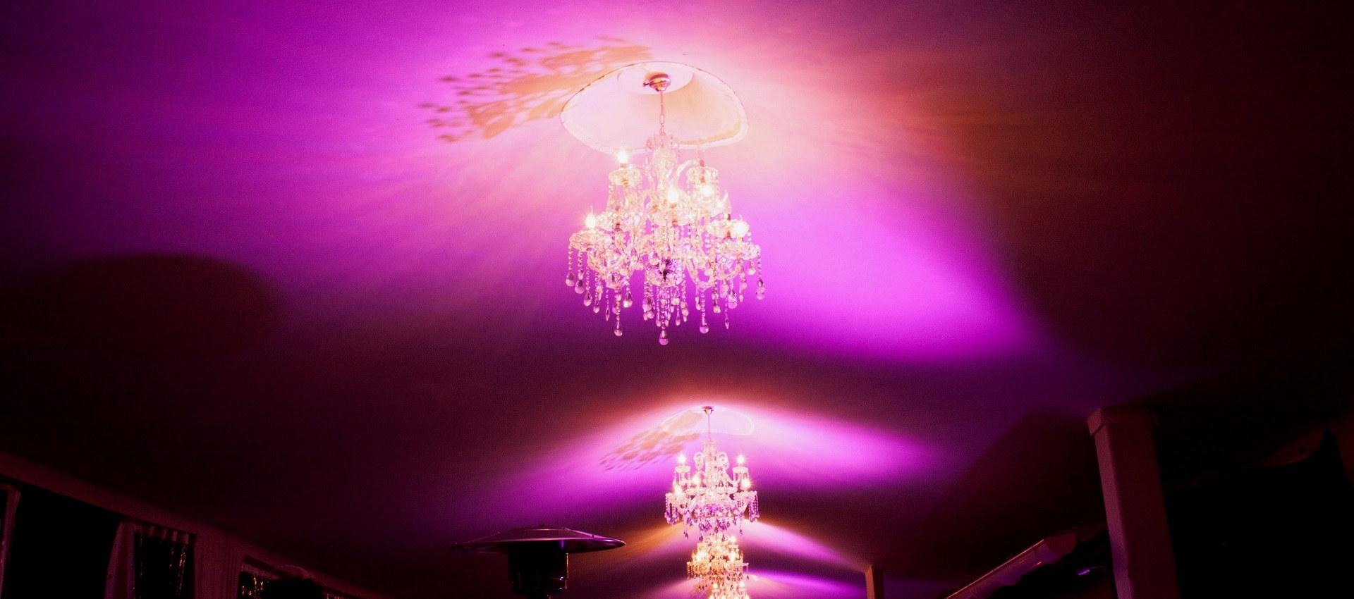 éclairage décoratif avec projecteurs à leds