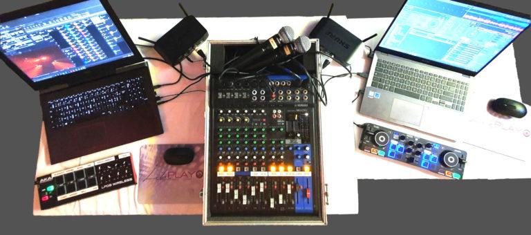 installation de la régie DJ