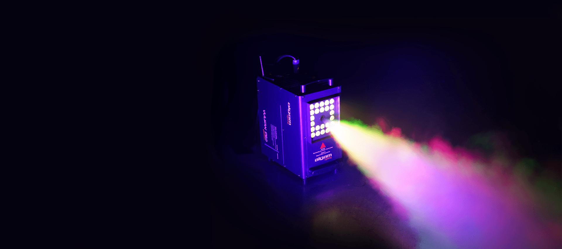 Machine à fumée verticale DMX à leds